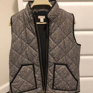J. Crew Factory Jackets & Coats - Printed herringbone Jcrew Factory Vest
